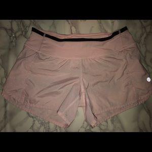 rare pink sparkle lululemon shorts!